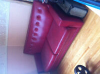 50's diner red couch-old