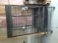 Heavy duty parrot cage with playtop