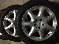 Mercedes - Benz original alloy rims and snow tires (set of 4)