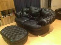 Chesterfield black sofa delivery available