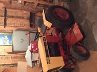Tractor Lawn mower, aerator, & grass sweeper