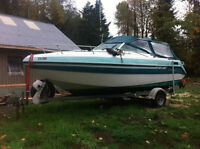 21ft weekend boat with cuddy and new rebuilt motor