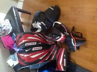 hockey goalie pads and equipment size 30