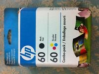 Hp 60 ink combo black colored factory sealed in box