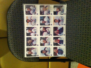 1985-86 red rooster oilers cards on 2 sheets