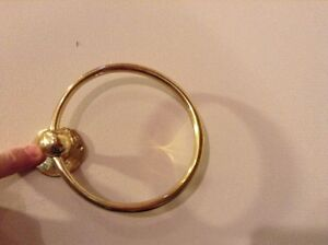 Solid Brass Towel Ring Belleville Belleville Area image 1