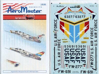 Aero Master Decals 1:48 F-100D Super Sabres USAF Part I Decal Set 48-584