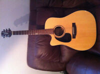 TAKAMINE EF340CLH LEFT HAND  AMP CT-4B AND POWER TUNER  WITH CAS