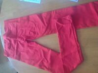 BRAND NEW Red skinny pants $100 value. size Small