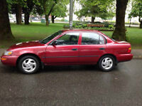 1993 Toyota Corolla Red very Low Low Kms Only 101000 Kms