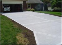 Concrete drive ways garages shops call us today !