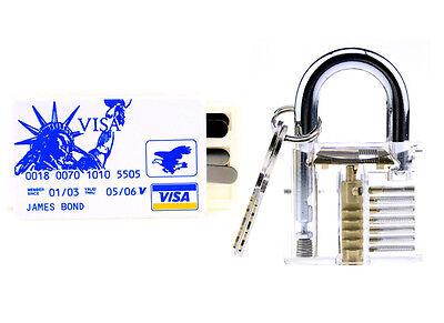 Funny 5pcs Locksmith Unlocking Training Tools Set Transparent Lock Key