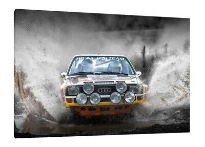 GROUP B RALLY CARS COLLECTION 34X24 INCH A1 LARGE CANVAS FRAMED SPORT ART PRINT