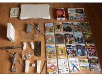 Nintendo Wii Console Controllers Games Huge Bundle