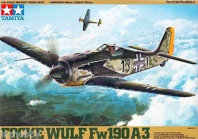 Tamiya 61037 1/48 Model Figther Aircraft Kit Luftwaffe Focke-Wulf Fw 190 A-3