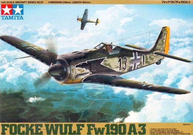 Tamiya 61037 1/48 Scale Model Aircraft Kit Luftwaffe Focke-Wulf Fw 190 A-3