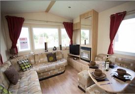 DOUBLE GLAZED CENTRAL HEATED 3 BED CARAVAN FOR SALE