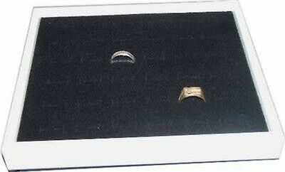 36 Ring Jewelry Display Case Box White
