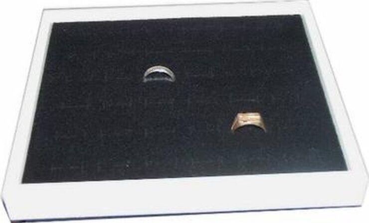36 RING  JEWELRY DISPLAY CASE BOX WHITE