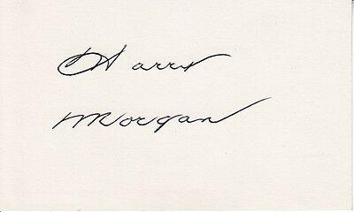 Harry Morgan Vintage Original Dbl Wght Photo   Rare Autograph Card  M A S H