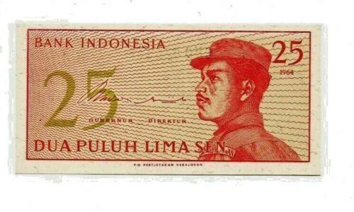 Indonesia  25 Sen 1964 P-93a Uncirculated   b