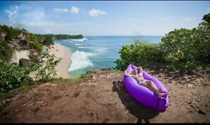 Purple Air Bed . New. With bag