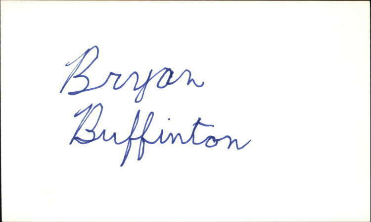 "Bryan Buffington Actor Guiding Light Signed 3"" x 5"" Index Card"