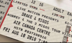DRAKE & MIGOS TOUR TICKET
