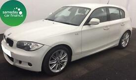 £169.89 PER MONTH WHITE 2011 BMW 120D 2.0 M SPORT 5 DOOR DIESEL AUTOMATIC