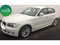£169.89 PER MONTH WHITE 2011 BMW 120D 2.0 M SPORT 5 DOOR DIESEL AUTOMATIC