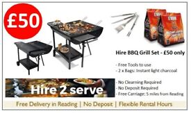 hire charcoal BBQ/Barbecue for garden parties, corporate events, summer gas & coal bbq with tools