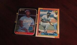 2 Baseball Rookie Cards - Bo Jackson #3 & Frank Thomas #414