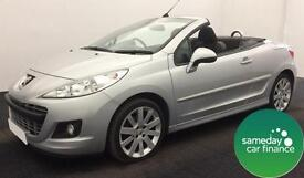 ONLY £123.22 PER MONTH SILVER 2011 PEUGEOT 207 CC 1.6 GT DIESEL MANUAL