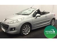 ONLY £134.95 PER MONTH SILVER 2011 PEUGEOT 207 CC 1.6 GT DIESEL MANUAL