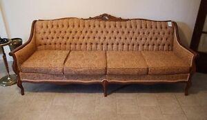 PRISTINE All-Original Antique Canadian-Made Sofa + Chair!