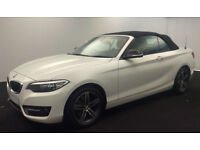 White BMW 220 Convertible 2.0TD Auto 2016 d Sport FROM £88 PER WEEK!