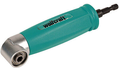"""WOLFCRAFT RIGHT ANGLE 1/4"""" DRIVE SCREWDRIVER - BIT ATTACHMENT - 4688000"""