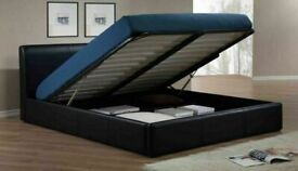 💖DECORE YOUR DREAM🔵DOUBLE/KING SIZE LEATHER STORAGE BED FRAME WITH OPTIONAL MATTRESS
