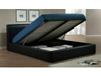 🔴DISCOUNT SALE PRICE🔵DOUBLE/KING SIZE LEATHER STORAGE BED FRAME WITH OPTIONAL MATTRESS