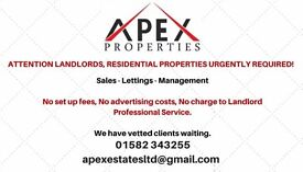 ****PROPERTIES WANTED****