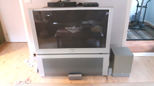 For sale large screen TV and souround sound system