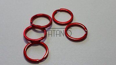 5 Stk. 25 mm Federringe Spaltringe rot Schlüsselring  Binderinge Ringe  M18