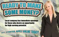 GET STARTED, APPLY TODAY! $800+/WEEK!