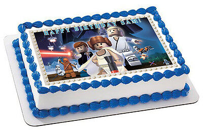 Lego Star Wars (Nr7) - Edible Cake Topper OR Cupcake Topper, Decor](Star Wars Cake Decoration)