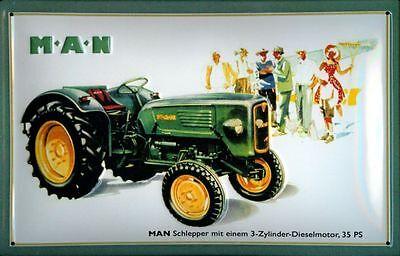Blechschild MAN Schlepper Traktor