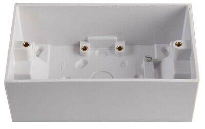 2 Enchufe Plástico Montada en Superficie Eléctrico Espalda Caja Empotrable 47m