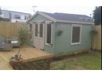 summerhouses sheds chalets garages patios fencing and decking etc.