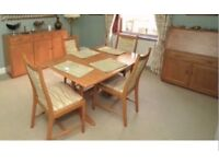 Ercol Windsor dining table 4 chairs matching sideboard & Bureau