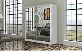 💥💯WAREHOUSE SALE 2 DOORS SLIDING WARDROBE WITH FULL MIRRORS ALL SHEL