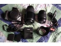 Canon EOS 1200D DSLR Camera and extras